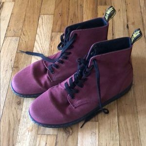 Size 11 Mens Maroon (Red) Dr Martens Boots